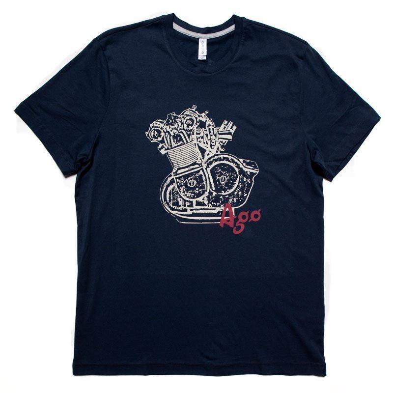 7d658f240e438 Giacomo Agostini - Vintage Blue T-Shirt Homme   Man - Taille   Size L  MONDOCORSE Online with  13.15 Piece on Beidhgate07 s Store