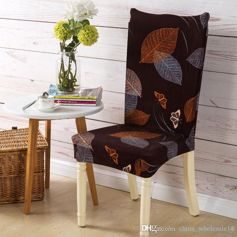 Spandex Elastic Dining Chair Cover Plaid Geometry Floral Chair Cover Party  Office Computer Chair Seat Cove Home Decoration Cheap Chair Covers To Buy  ...