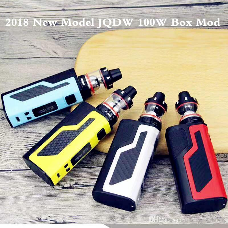 Newest JQDW-100W Vape Mods Starter Kits with display screen big vapor box mod ecig Built-in 2200mah battery vaporizer stock offer