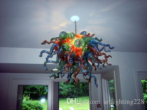 Living Room Lamp Ceiling Mount Lighting Hot Sale Multi Color Dale Chihully Hand Blown Murano Glass Chandelier