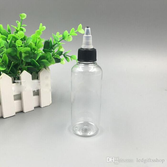 무료 배송 E 액체 E-CIG 플라스틱 스포이드 부리 병 100ml의 펜 모양의 플라스틱 병 애완 동물 병을 비우기 100ML 캡을 비틀어