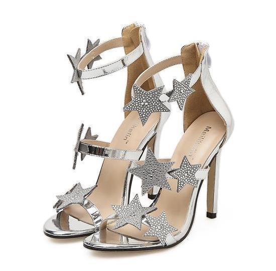 Glitter Silver Wedding Shoes Rhinestone High Heels Ladies Party Club Shoes  Size 35 To 40 Sexy Shoes Clogs For Women From Tradingbear 5e58a30ef4ac