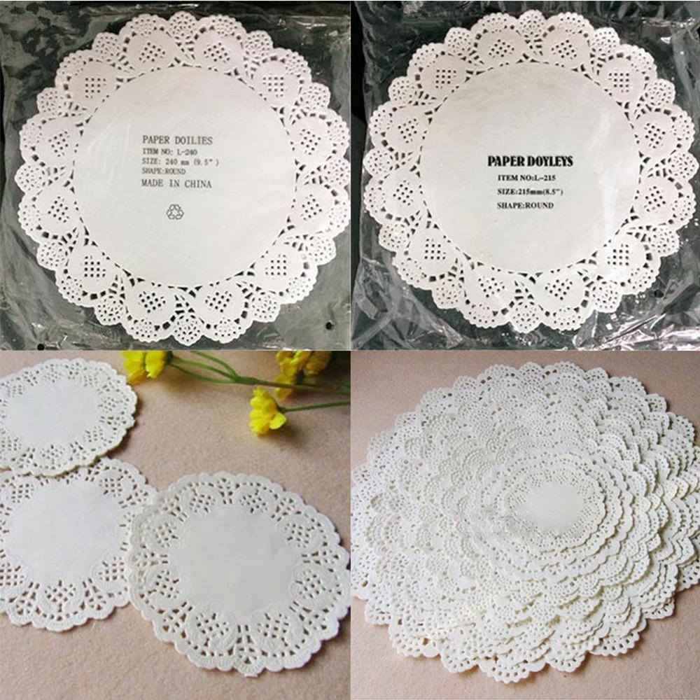 Best 114cm 267cm Diy White Round Lace Paper Doilies Craft Cake