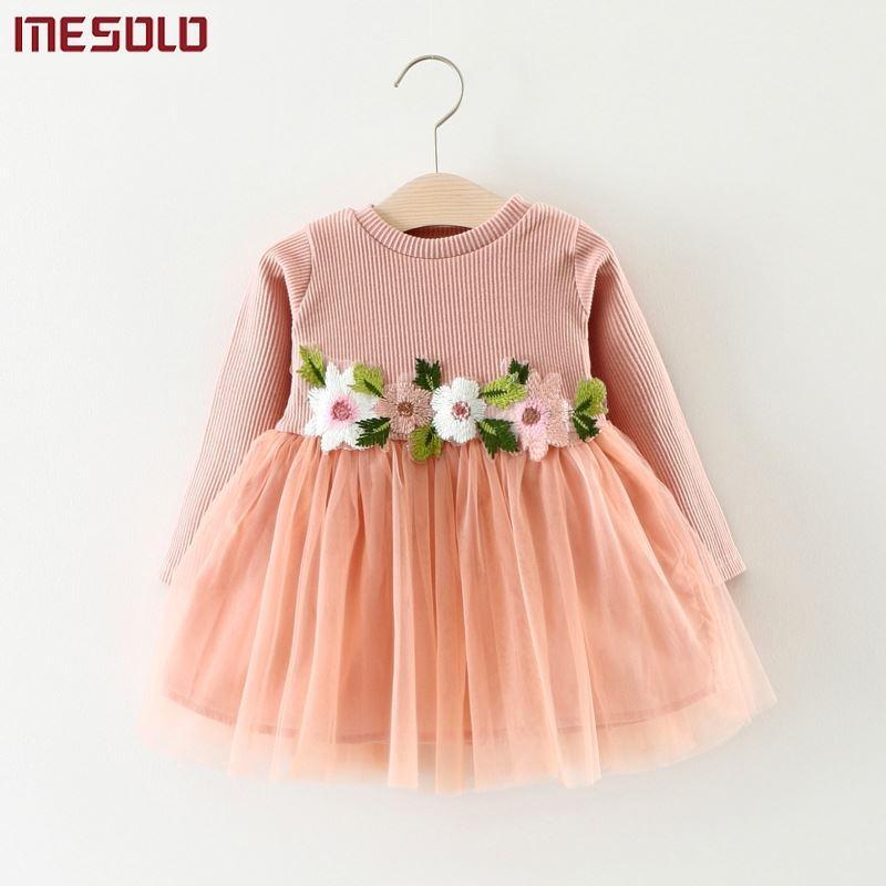 f913863e4d038 Acheter Automne Hiver Bébé Fille Robe Mode Fleurs Enfants Vêtements Lase  Mariage Parti Costume Pour Enfants Bébé Filles Anniversaire Robes De  12.53  Du ...