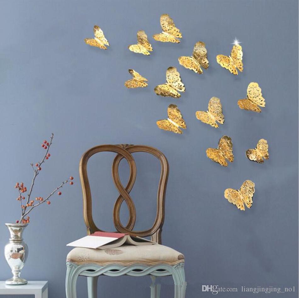 3D Creux Papillon Art Stickers Muraux Chambre Salon Home Decor Enfants DIY Décoration / Set OOA4194