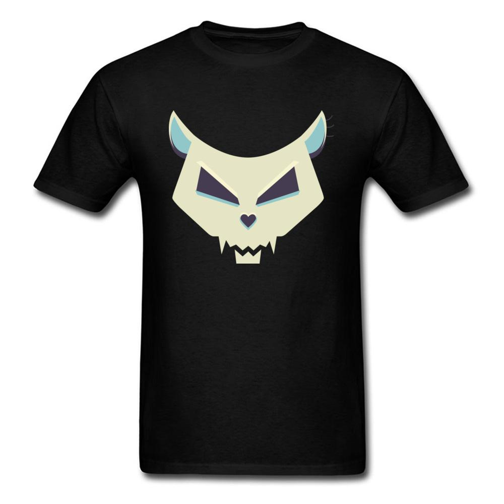 Pure Cotton Casual T Shirts Men Pastel Evil Cat Skull Tshirt 3d Printing Tshirt For Mens Funny Designers T-shirt Round Collar