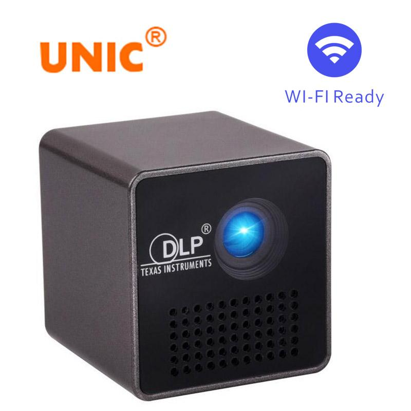 Original UNIC P1+ WIFI Wireless Mobile Projector Support Miracast DLNA Pocket Portable Home Movie led DLP MINI Projector Proyector Beamer