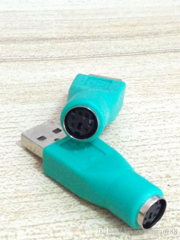 USB Macho para PS2 Fêmea, PS2 Macho para USB Conversor Adaptador Feminino ou Computador PC Mouse Teclado Ratos