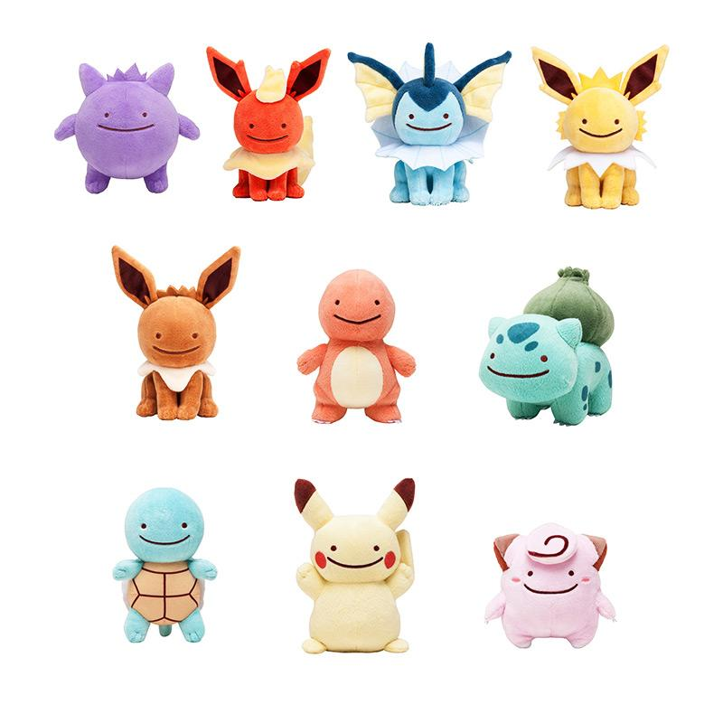 10 Styles 15CM Cute Charmander Squirtle Bulbasaur Clefairy Ditto eevee  Flareon Jolteon Gengar Vaporeon Kawaii Plush Toys Dolls