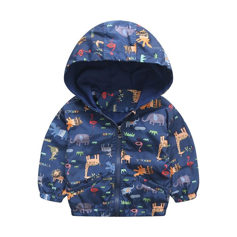 Fashion Boys clothes jacket coat Spring jacket for baby kids cotton fish print hoodies coat children boys tops outwear New