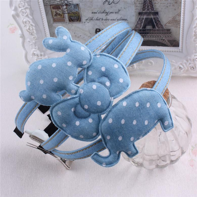 634bdc4f1 Denim Headband Cowboy Girls Hair Accessories Hello Kitty Rabbit Elephant  Hairband Hair Bow Flower Headwear Headwrap C Pink Flower Hair Accessories  Cheap ...