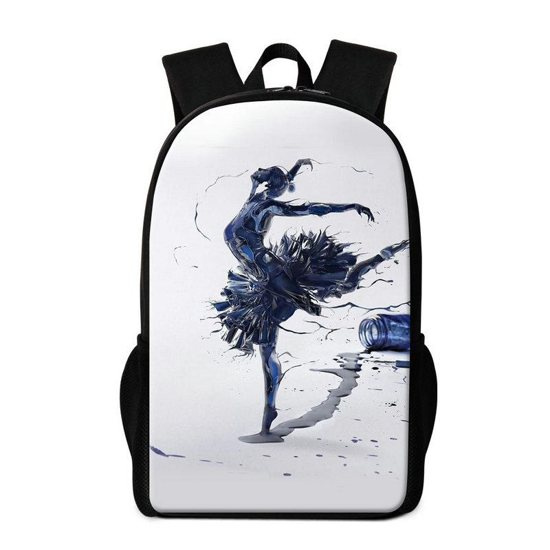 Art Backpack For Children Ballet Dancing Girl Printed School Bookbag  Lightweight Back Pack Girly Rucksack For Middle School Students Mochila  Backpacker ... a2e7c6795c31c