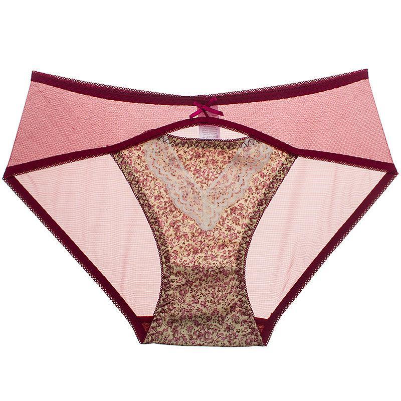 Alvalean Sexy lace women panties briefs sexy full transparent floral women's underwear panties female low-waist panties SP05
