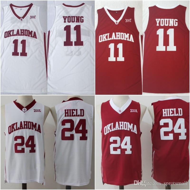 9385566f013 2019 Oklahoma Sooners College Jerseys 11 Trae Young Basketball Shirts  Stitched 24 Buddy Hield Red White Jersey Size S XXXL From Sprotsmall