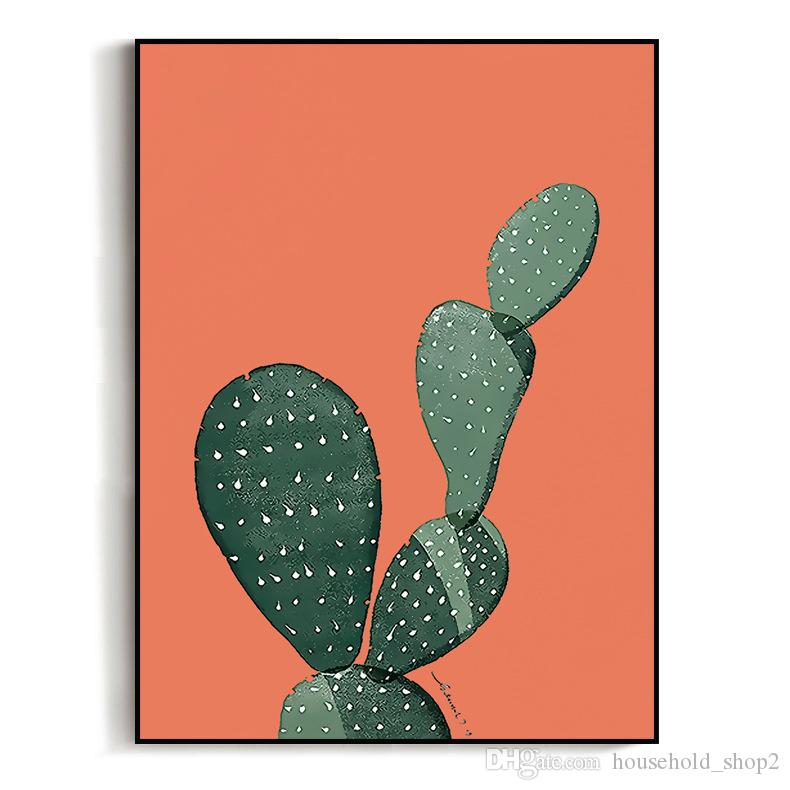 2018 new cactus Wall paintings landscape Art Canvas Print Painting kitchen living room Wall Pictures Home Decoration painting