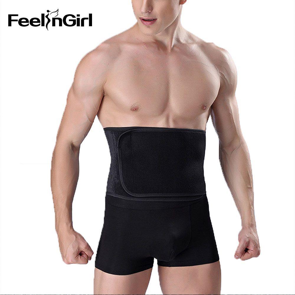 a264a1908f50d 2019 FeelinGirl Man Slimming Body Shaper Firm Control Waist Shaper Man  Slimming Belt Underwear E From Merrylady
