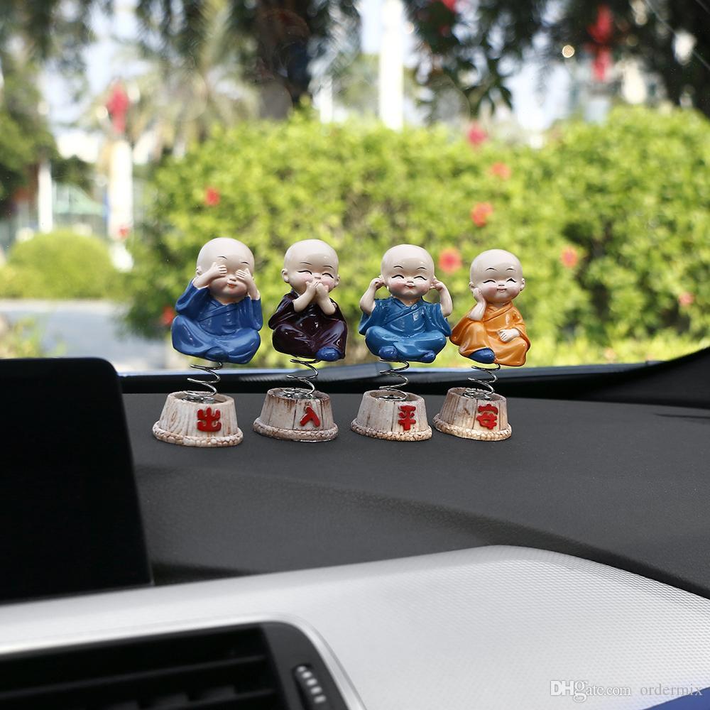 자동차 장식품 / set 수 지 장식 머리 장식 인형 장식 도미 사상자 Maitreya Buddha Figure Gift Desk Auto Pendant Charms