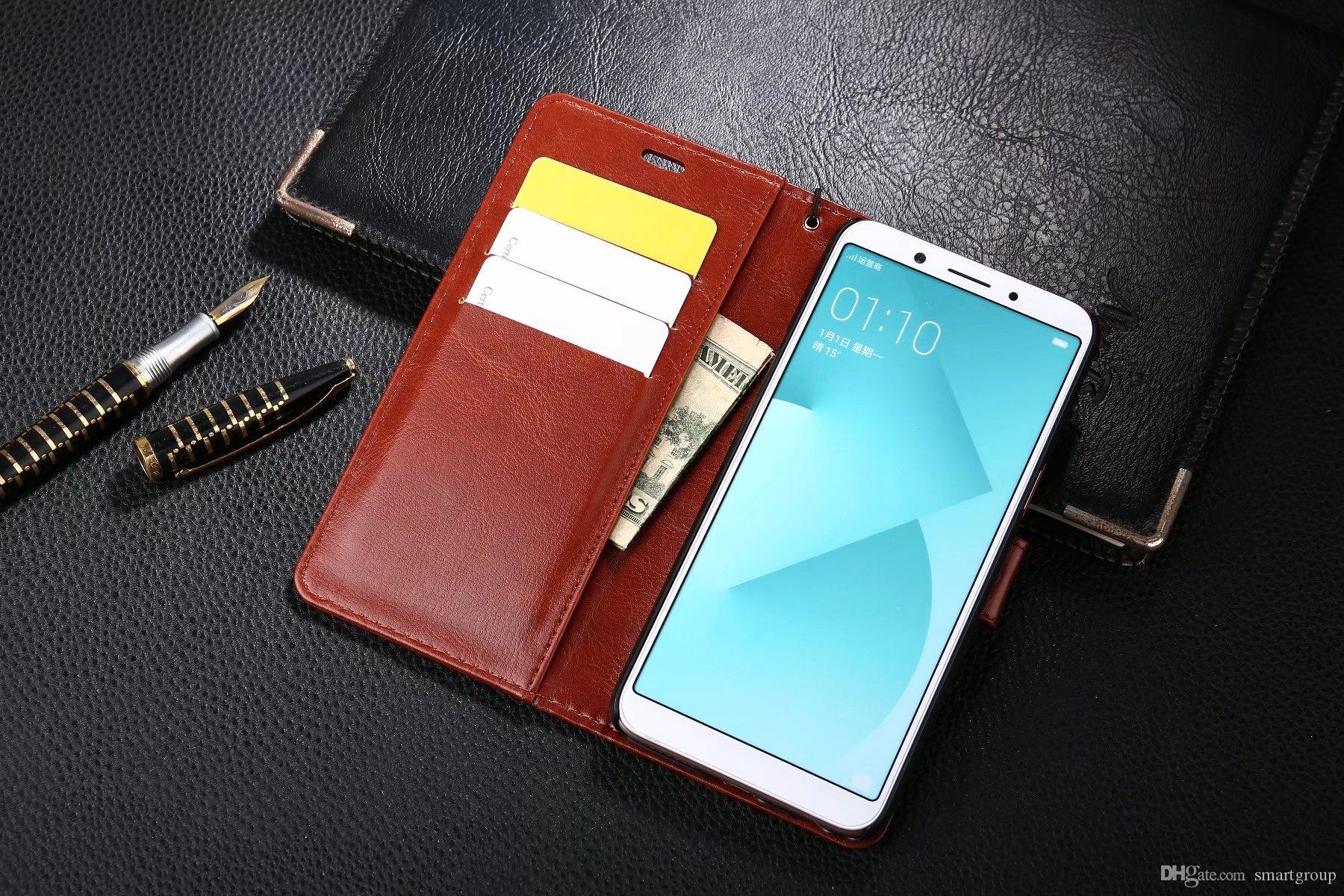 premium selection 41d6e 22024 For Oppo A83 Case Purse Clip Flip Cover Luxury Hot Original Stand Leather  Case For OPPO A83