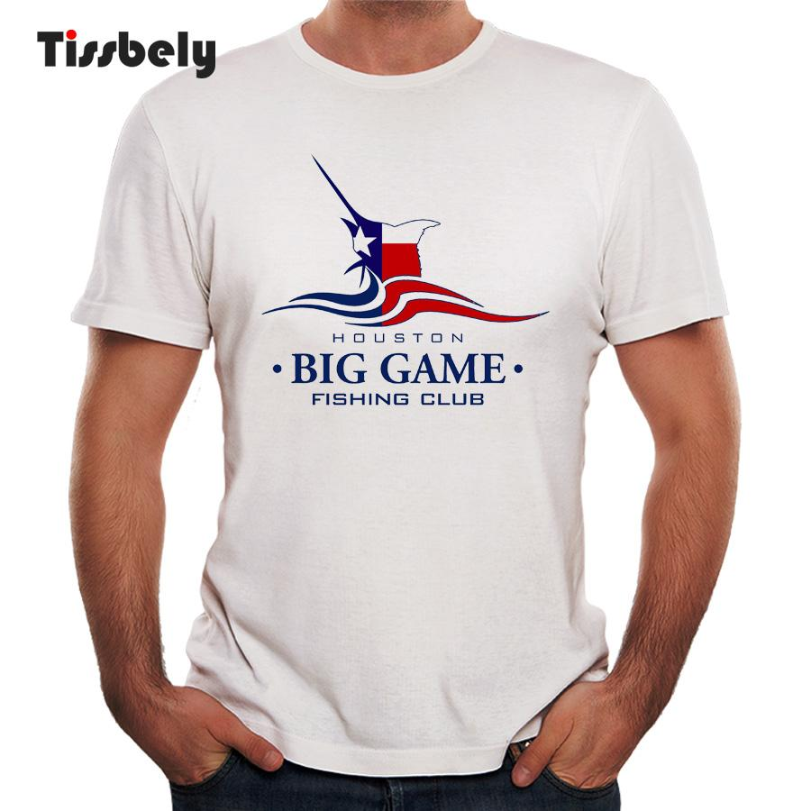 Tissbely Men T Shirt Printing Houston Big Game Fish Club Tee Shirt