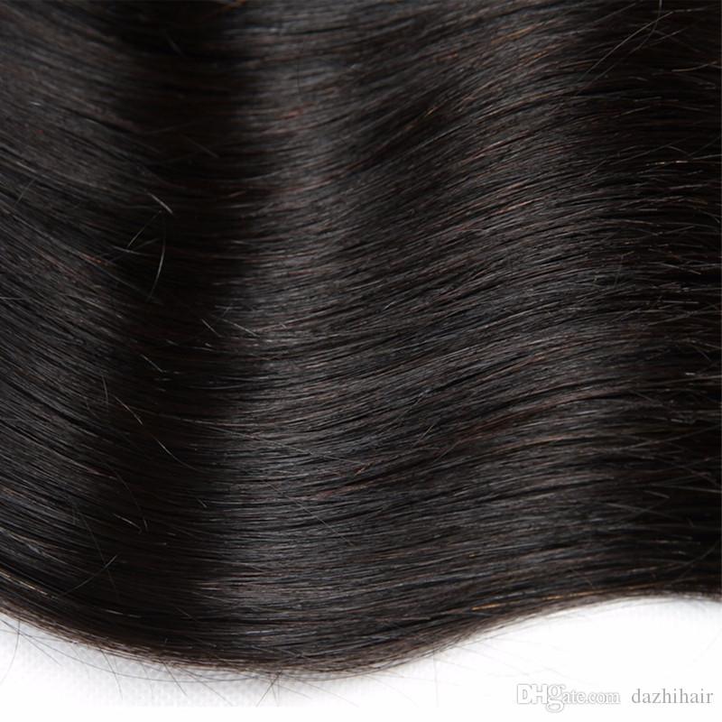 Spedizione gratuita dhl braizlian vergine dei capelli umani lisci 2 pz 3 pz lotto 100 g / pz vergine dei capelli umani tessuto fasci trama dei capelli