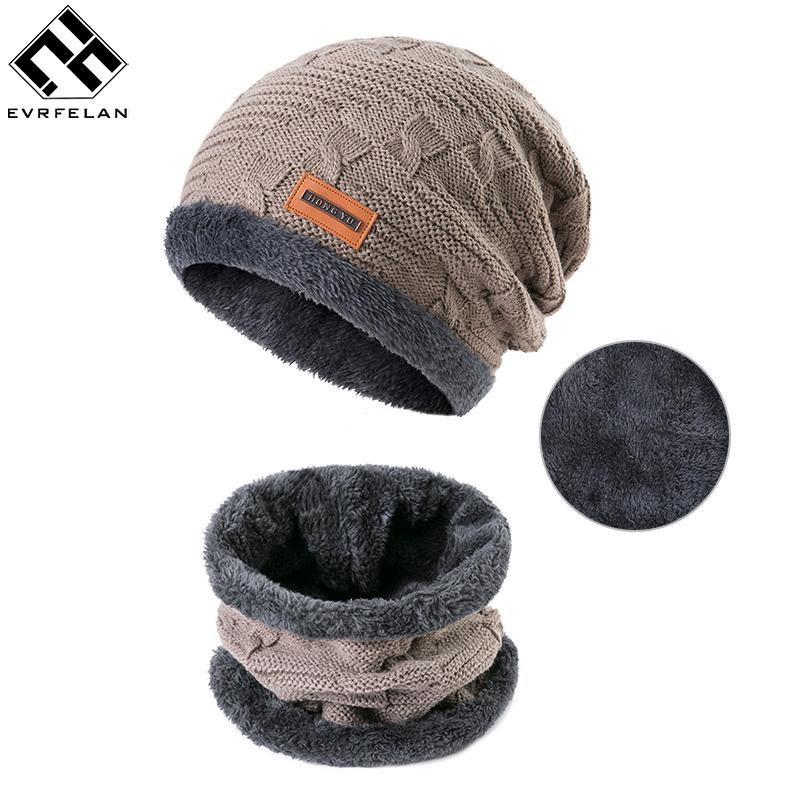 3a64e4124c68b Evrfelan Men Warm Hats Scarf Set Winter Hat Knitting For Men Scarves Lady  Beanies Knitted Hats Women s Ring Scarf Set 2. Store-wide Discount