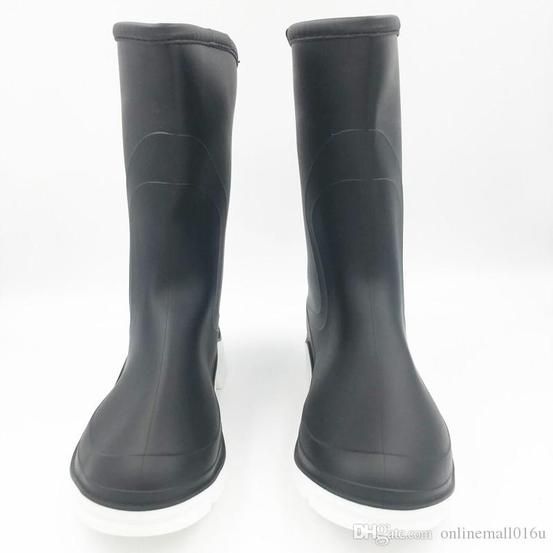 bd46572676d New Arrival Rain Boots Waterproof Mid-calf Shoes Woman Classical Rain Woman  Water Rubber High Boots Solid Botas Online with  35.93 Piece on  Onlinemall016u s ...