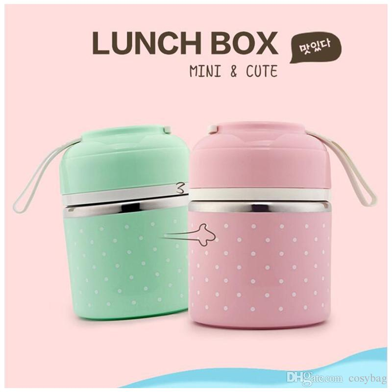Home & Garden Fashion Korean Lunch Box Bento Thermos Flask Container For Food Stainless Steel Table Ware Storage Lunch Box Only 4 Layer Low Price