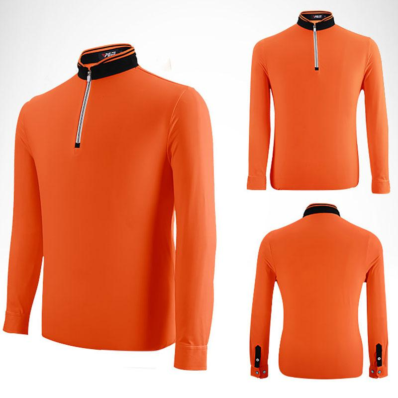 1a04c4e78d Compre Pgm Ropa De Golf Para Hombre Golf Polo Camisas De Manga Larga Transpirable  Elásticos Uniformes Camisetas Hombres Tenis De Mesa Camisa Deportiva ...