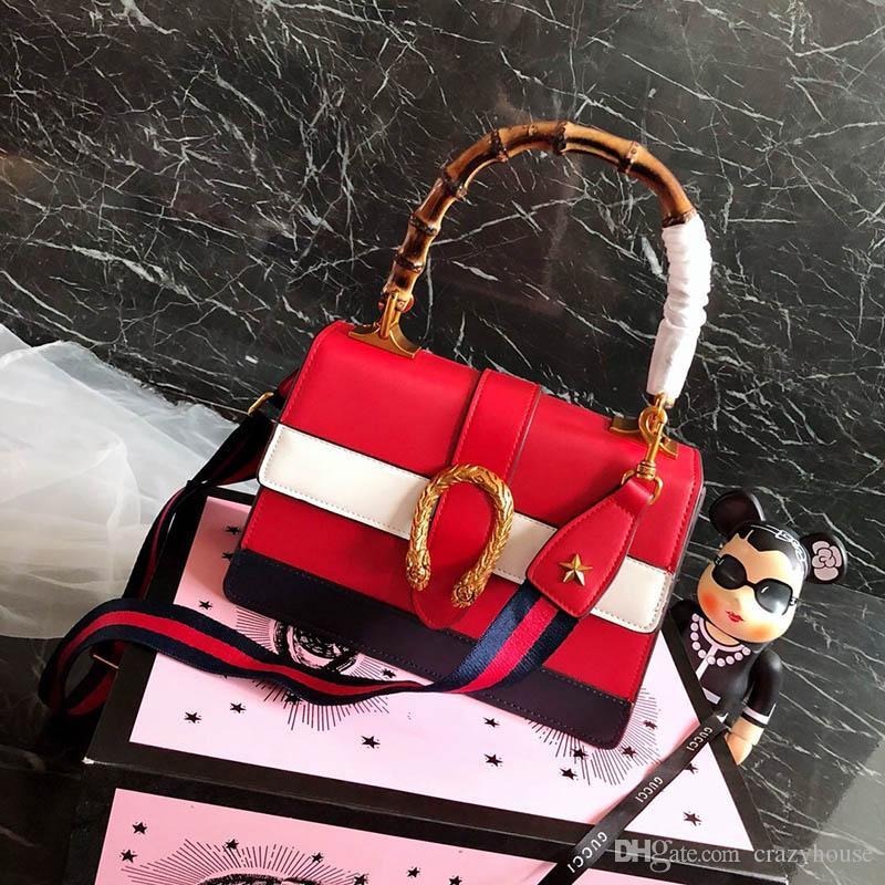 Original Luxury Famous Brand Designer Handbags 2018 Women Girl Bamboo Navy  Bags Bag Fashion Shoulder Bag Purse Lady Wallet 180731001 Laptop Backpacks  Bum ... 88239e928012b