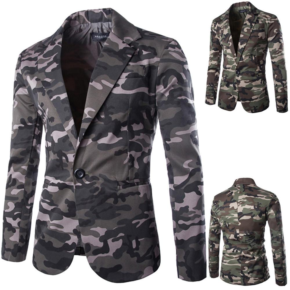 143da12b4a511 2018 Fashion Men'S Autumn Winter Coats Cardigan Camouflage Jacket Long  Sleeve Cotton Blend Turn Down Collar Coat Top Size M XXL Clothing Jackets  Mens ...