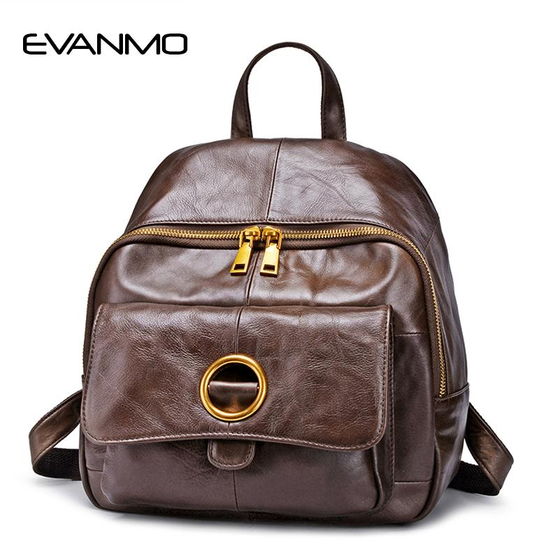 f74b1f419d Brand Women Backpack Genuine Leather Backpacfor Women Real Leather School  Bag Large Capacity Travel Bags Cowhide Backpack Swiss Army Backpack Black  Leather ...