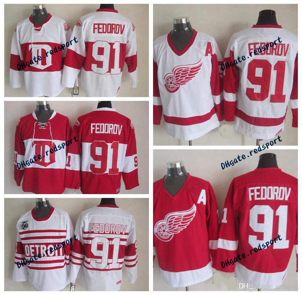 42410974747 ... 2018 throwback detroit red wings sergei fedorov 75th hockey jerseys  winter classic alumni vintage ccm 91