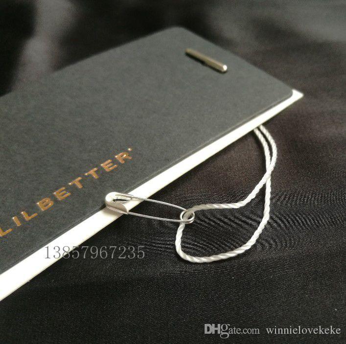 par paquet / boucle de ficelle de vêtement / joint de ficelle / vêtement étiquette volante sling // goupilles de sécurité en cuivre