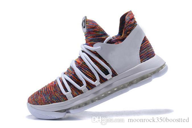 Kevin Durant KD 10 X Elite Rainbow Sneakers Mens All Full White Black Gold  Wolf Grey Oreo Basketball Shoes Discount Shoes Shoe Shops From ... bb1b1f71a2