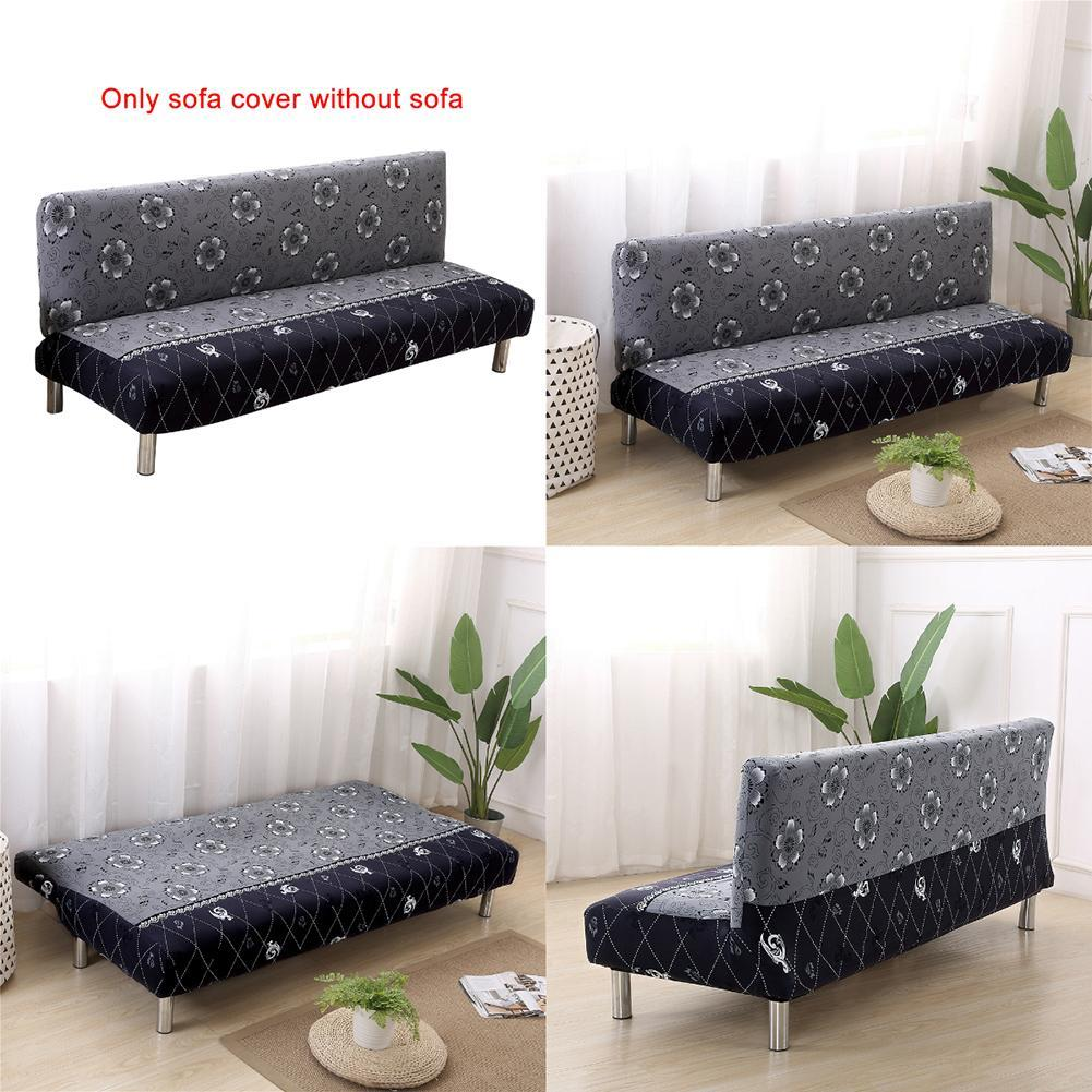 Table & Sofa Linens Foldable Sofa Bed Without Armrest Covers Couch Cover Printed Seat Covers Stretch Furniture Slipcover Armless Home Decoration 100% High Quality Materials Home Textile