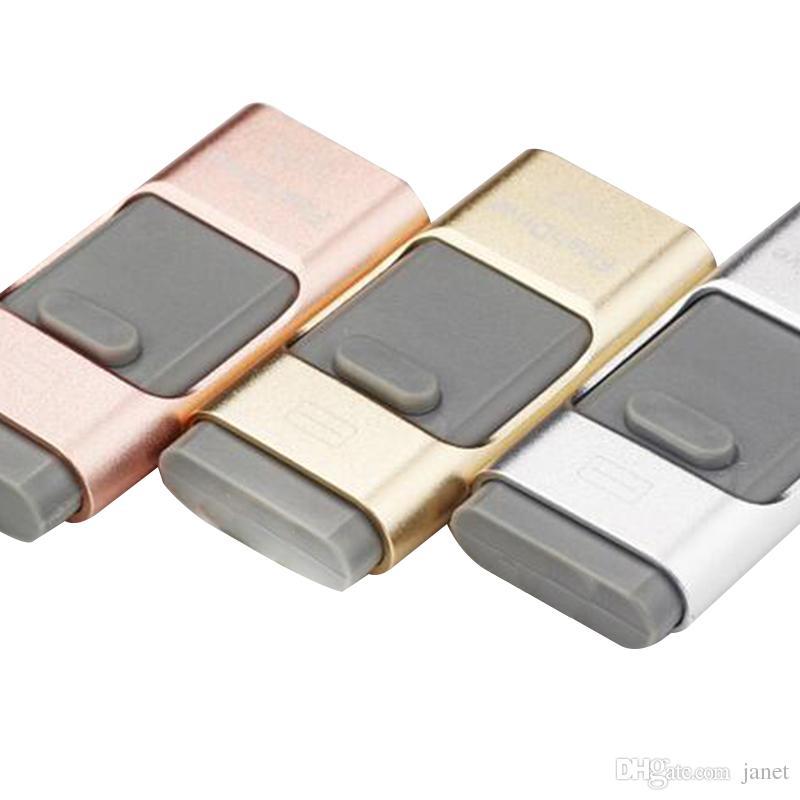 USB Storage 3 In 1 OTG USB 2.0 I-Flash Drive Real 8GB 16GB 32GB 64GB I Flash Drive for Android IOS Windows