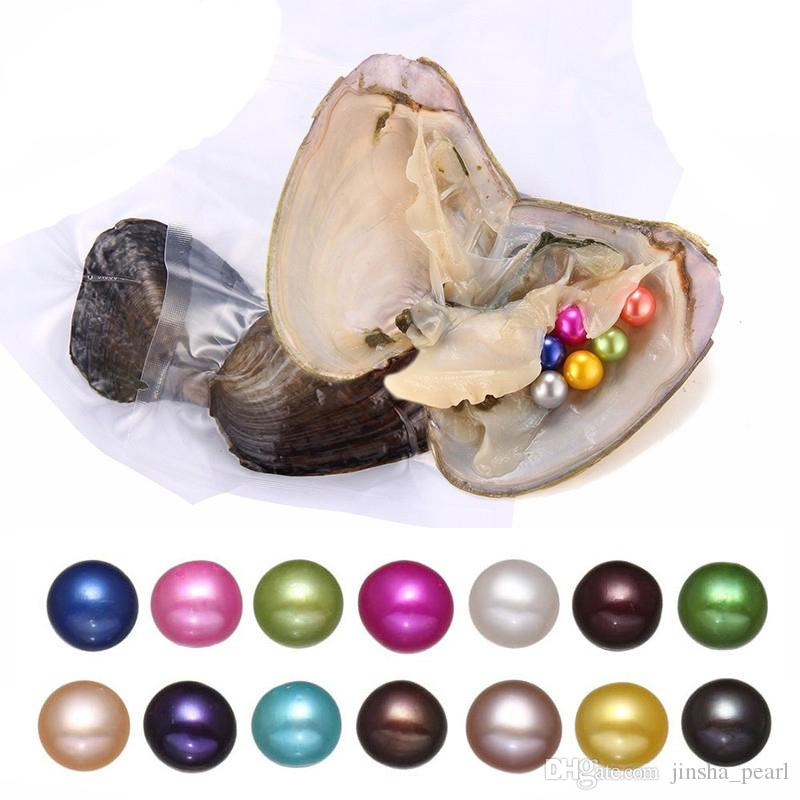 DIY Akoya Round Pearl Variety Good Of Color Love Wish Pearl freshwater Oysters Individually Vacuum Pack Fashion Trend Gift Surprise
