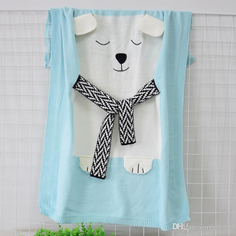 Fox Wool Knitted Blankets Baby Kids Children Newborn Adult Crochet Bed Sofa Blanket Swaddle Air Conditioning Quilt Gifts WX9-222