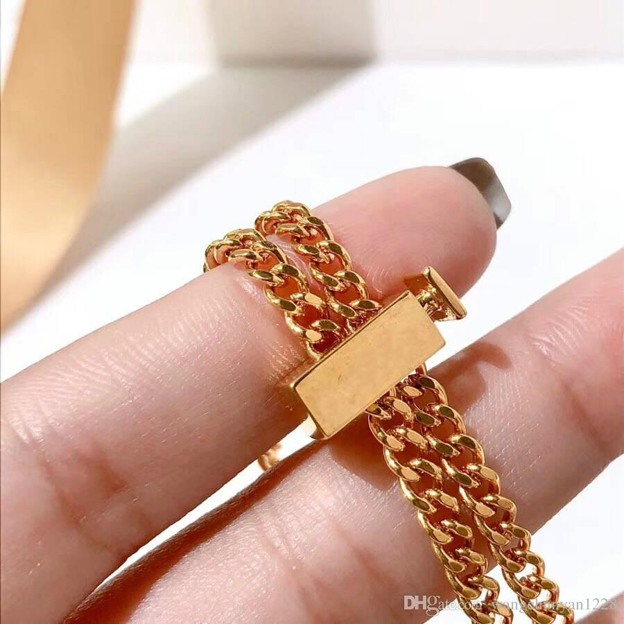 Vananya Novo Designer marca Pulseira para a Mulher do vintage letras felizes Jóias Presentes Pulseira de cobre retro lady pulseiras de alta qualidade