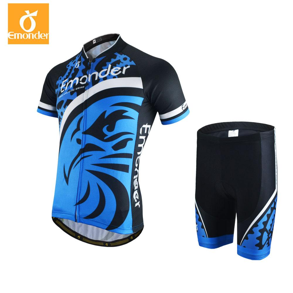 EMONDER 2018 Summer Cycling Jerseys Set MTB Wear Short Sleeves Set ... b11ff0faf