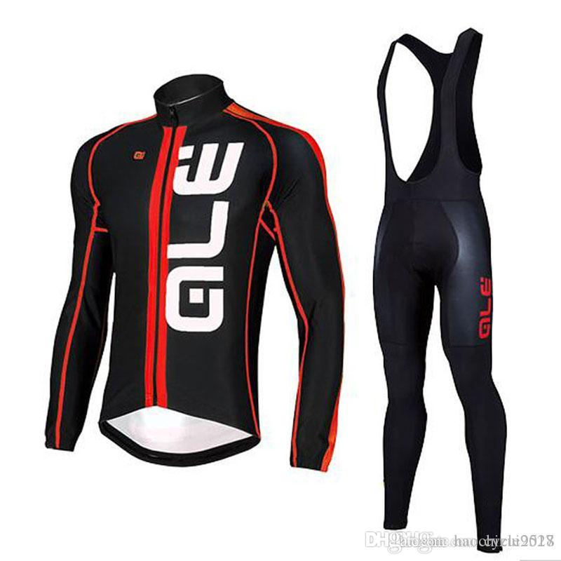 ALE 2018 Spring Autumn Pro Men Team Cycling Jersey Bib Pants Set ... d3b23424e