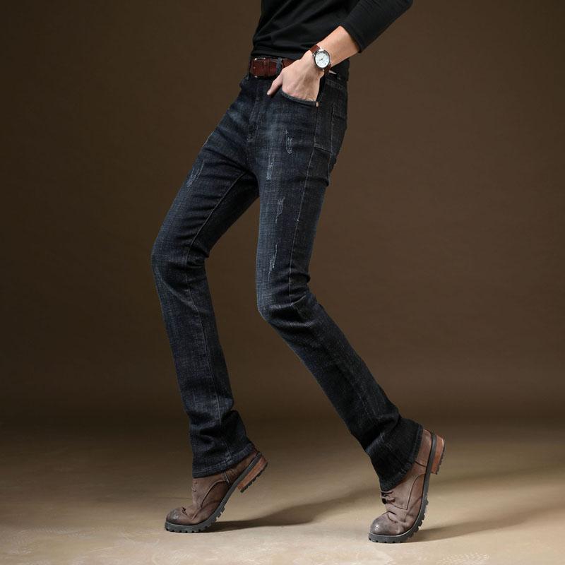2018 Fit Nouveau Automne Noir Bootcut Slim Jeans Hommes Acheter wRan5OHqq
