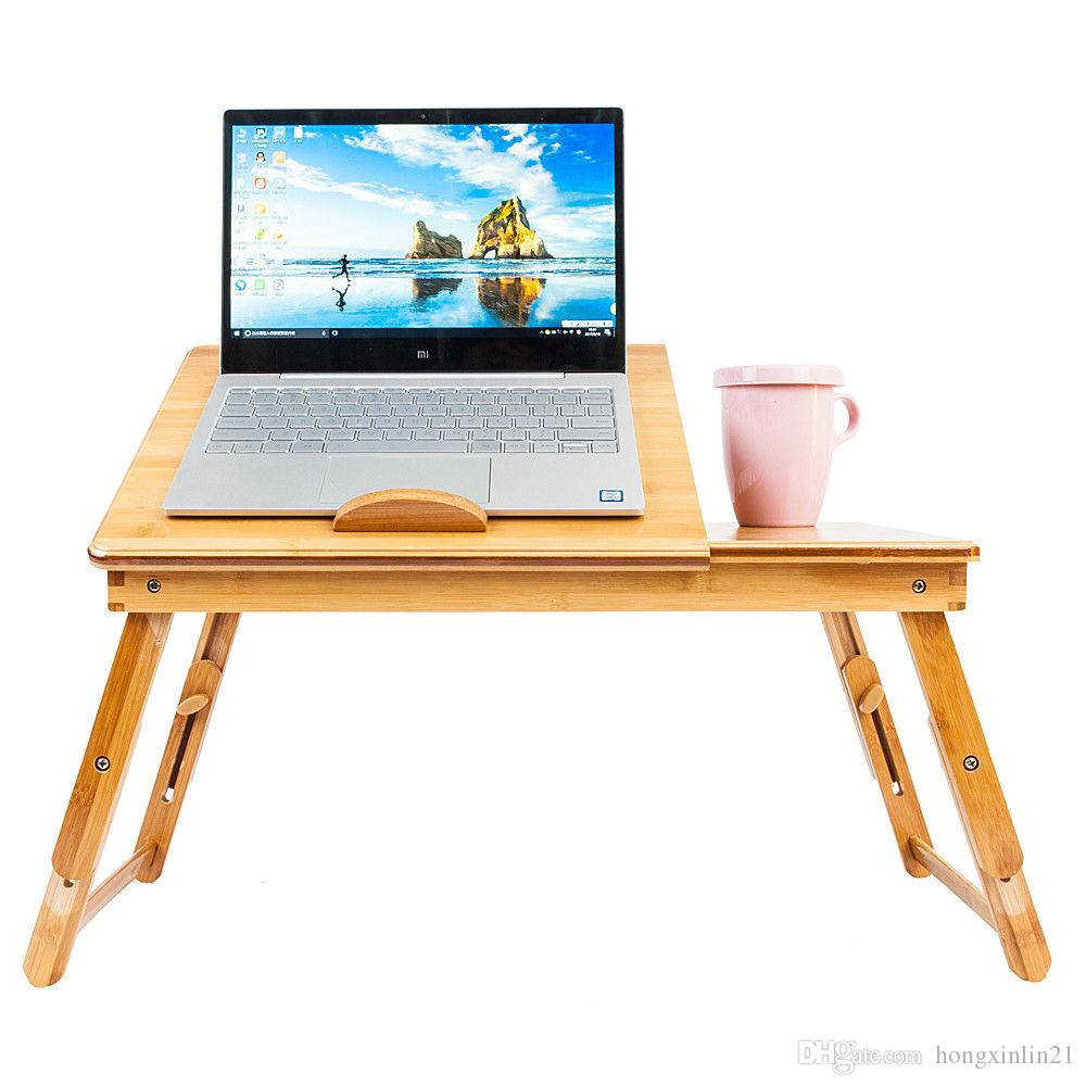 2018 Bamboo Portable Folding Laptop Computer Notebook Table Bed Desk Tray Stand From Hongxinlin21 20 06 Dhgate Com