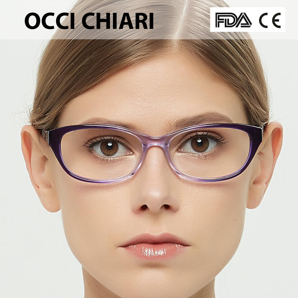 8382de1d86 2019 OCCI CHIARI Women Cat Eyes Style Eyeglasses Prescription Wine Red  Myopia Spectacle Student Fashion Glasses Frame Female W CERICA From Gocan