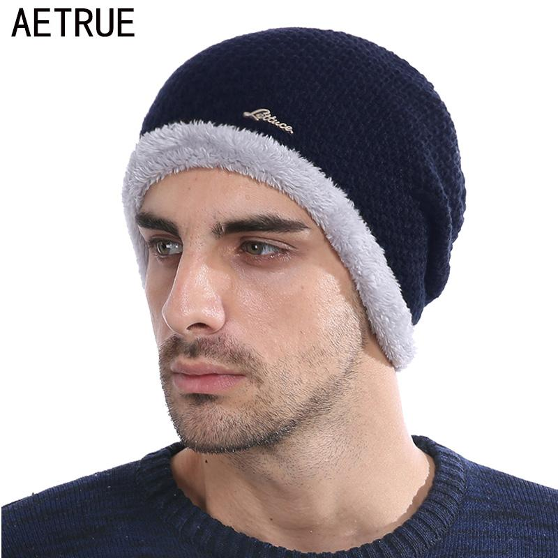 182d2b10ee20a6 2019 AETRUE Knitted Hat Men Skullies Beanies Winter Hats For Men Women  Bonnet Warm Thick Soft Brand Wool Gorros Male Beanie Hat Cap From  Longanguo, ...