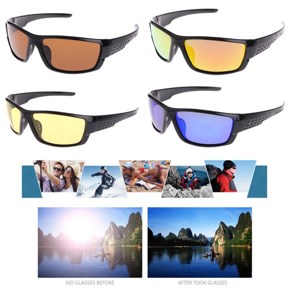 miglior servizio b3c4e 10a57 Occhiali da pesca Ciclismo Outdoor occhiali da sole polarizzati Sport  Eyewear UV400 per gli uomini