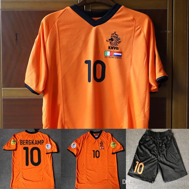 2019 2000 Holland Bergkamp Cruijff Retro Soccer Jersey 00 Euro  Voetbalshirts Orange Shirt Football Vintage MAGLIA Maillot Camiseta Kits  Uniform From ... 62237750d