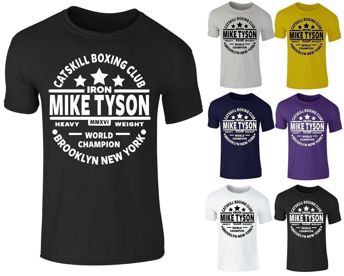 Boxeo Top Para Camiseta Gimnasio Leyenda Algodón De Redondo Hombre Cuello Catskill Tyson Entrenamiento Mike srxohCBtdQ