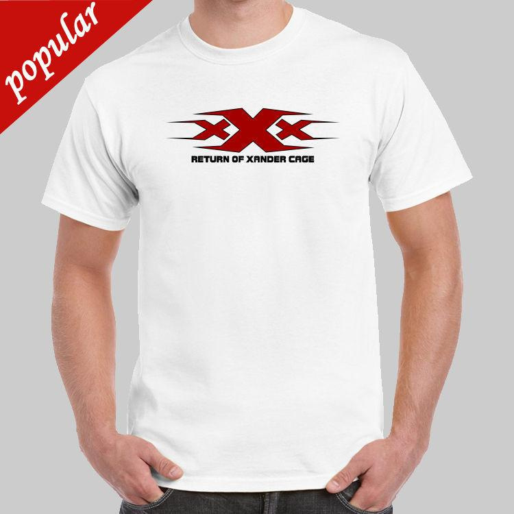 Xxx Logo Terugkeer Van Xander Kooi T Shirt Usa Maat Korte Mouwen Nieuwe Mode T Shirt Mannen Kleding 2018 Merk T Shirt Homme Tees