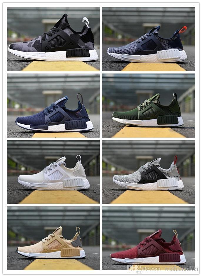 59c0dbf6f57fb 2018 NMD XR1 Running Shoes Mastermind Japan Skull Fall Olive Green ...
